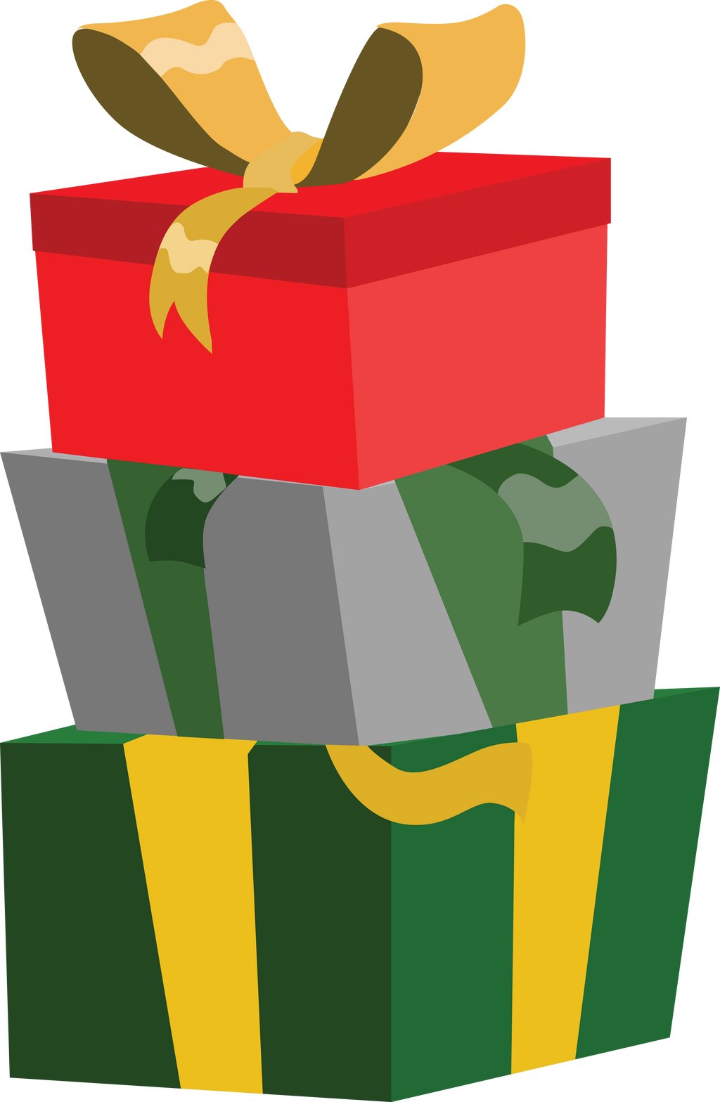 Pony Christmas presents credit free vector by ...