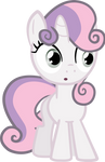 Sweetie Belle credit free vector