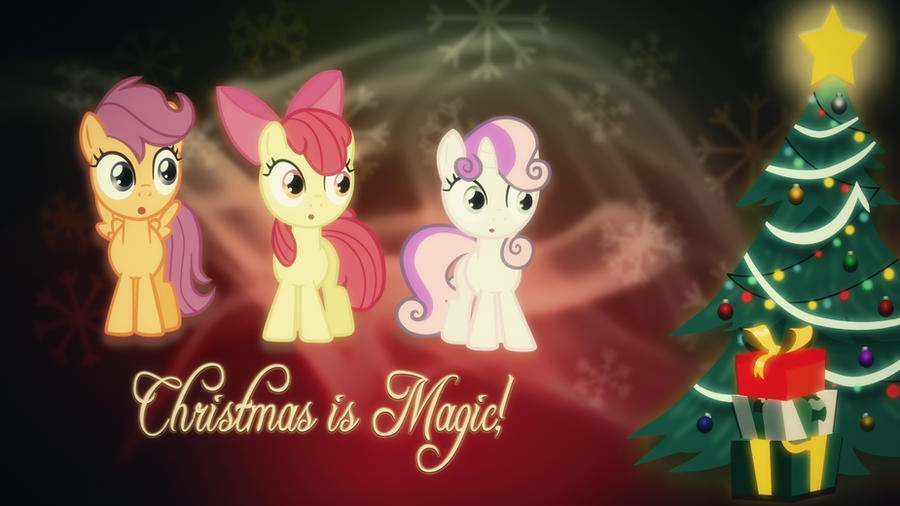 Cutie mark crusaders Christmas wallpaper I made :) by poniesfromheaven