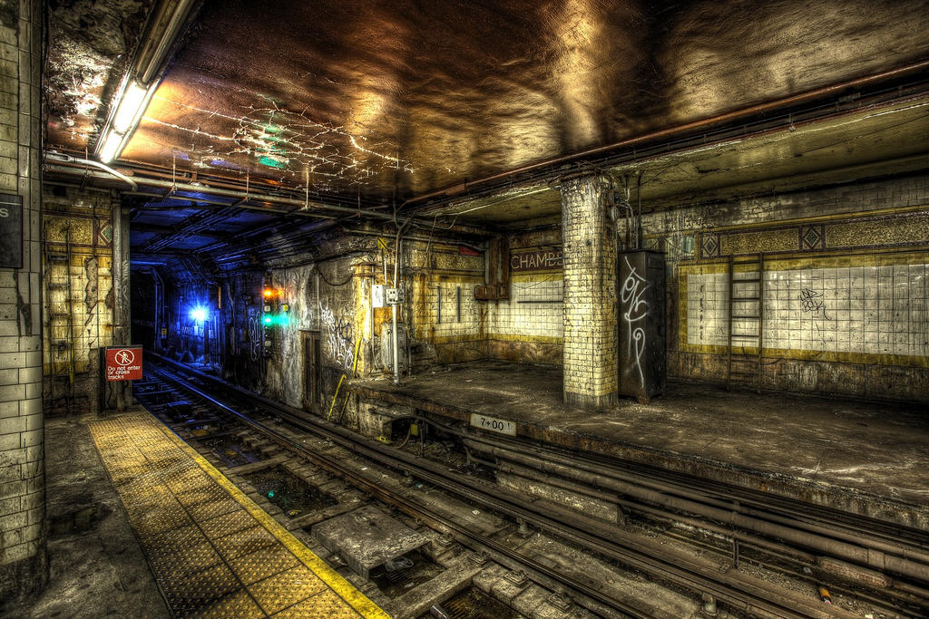 Chambers Street Subway VII by marcialbollinger