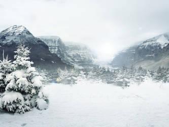 Winter Landscape STOCK by silentstarelly