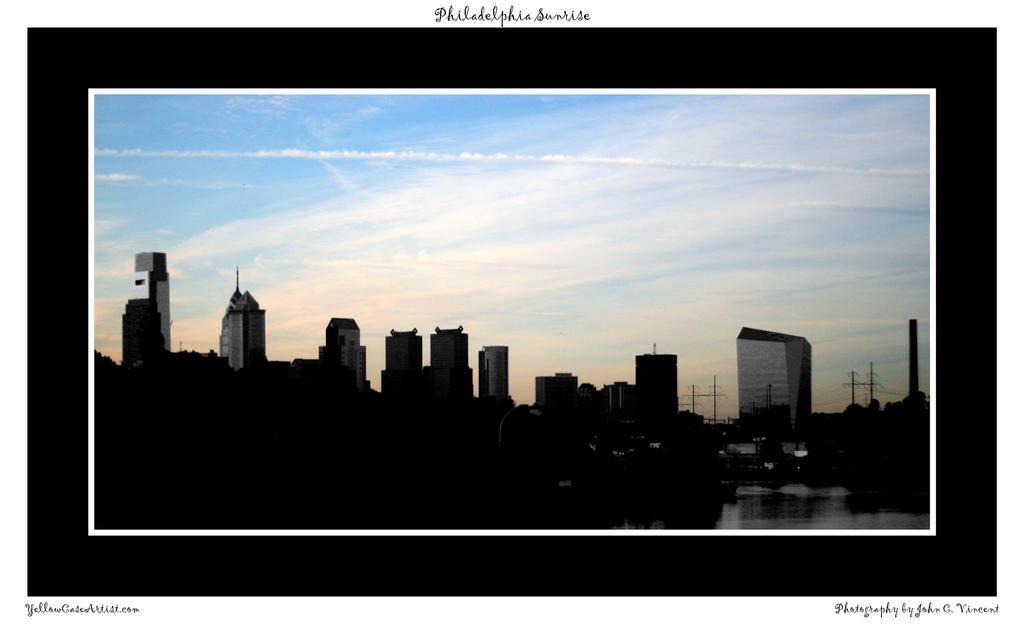 Philadelphia Sunrise by yellowcaseartist
