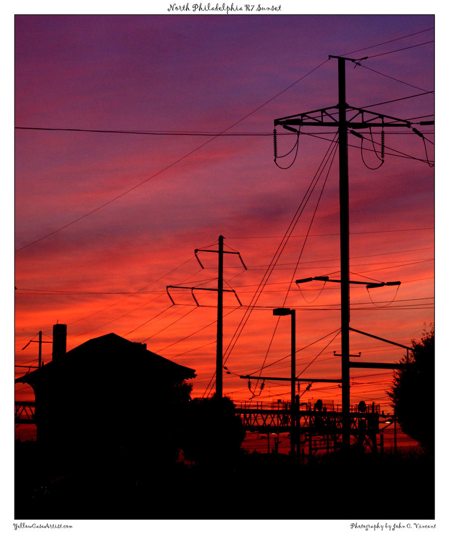 North Philadelphia R7 Sunset by yellowcaseartist