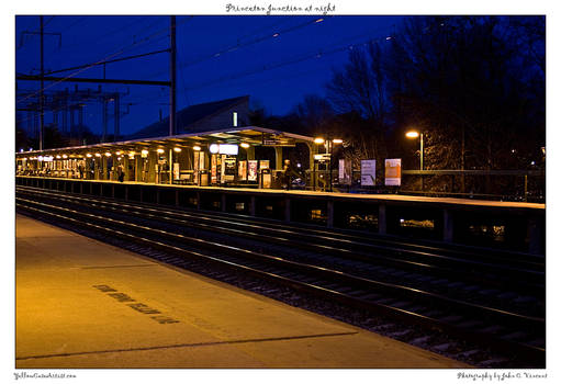 Princeton Junction at night