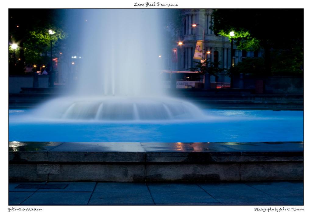 Love Park Fountain by yellowcaseartist