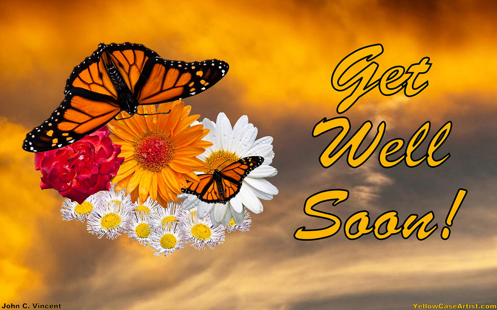 get well soon - wallpaper by yellowcaseartist