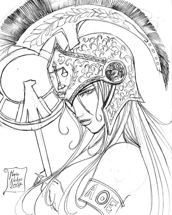 The gallery for --> Athena Greek Goddess Drawing Face