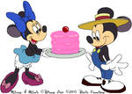 Minnie Mouse serving Up Cake