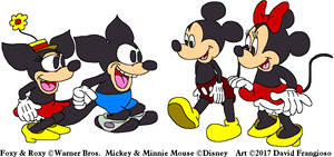 Mickey and Minnie Meet Foxy and Roxy