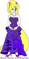 Minerva's Indigo Gown