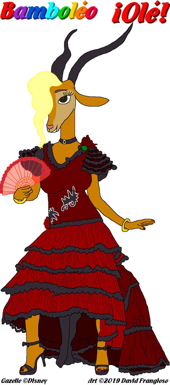 Flamenco Dancer Gazelle