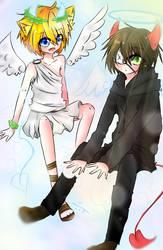 Angle and Devil | with Takanagan9605 by WahaCreator