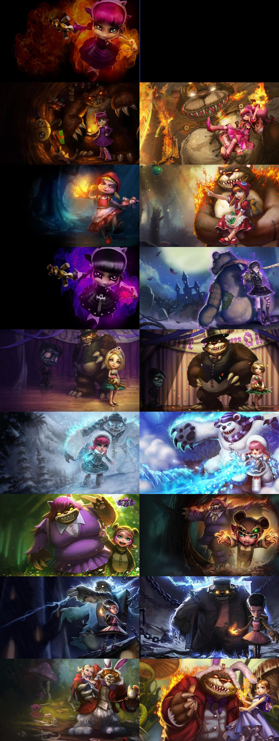 All Annie`s current sk...