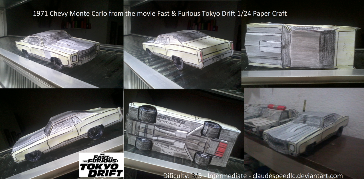 Paper Craft 1 24 Ff Td 71 Chevy Monte Carlo By