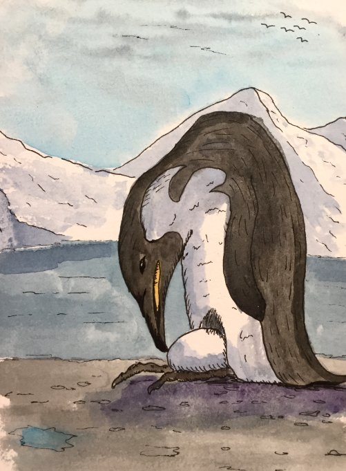 Penguin Father by GentlestGiant