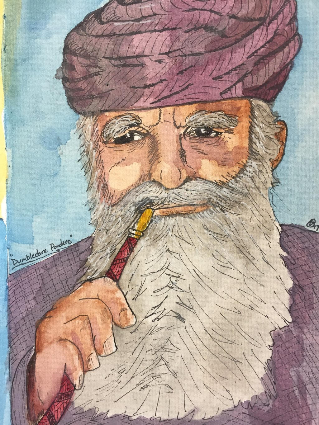 Dumbledore ponders  by GentlestGiant