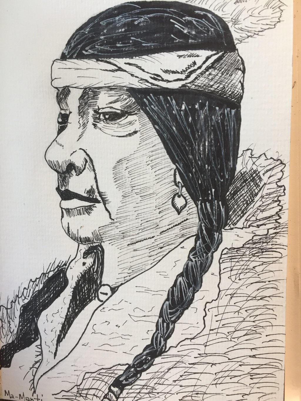 Ma-Manti : owl shaman of the Kiowa by GentlestGiant