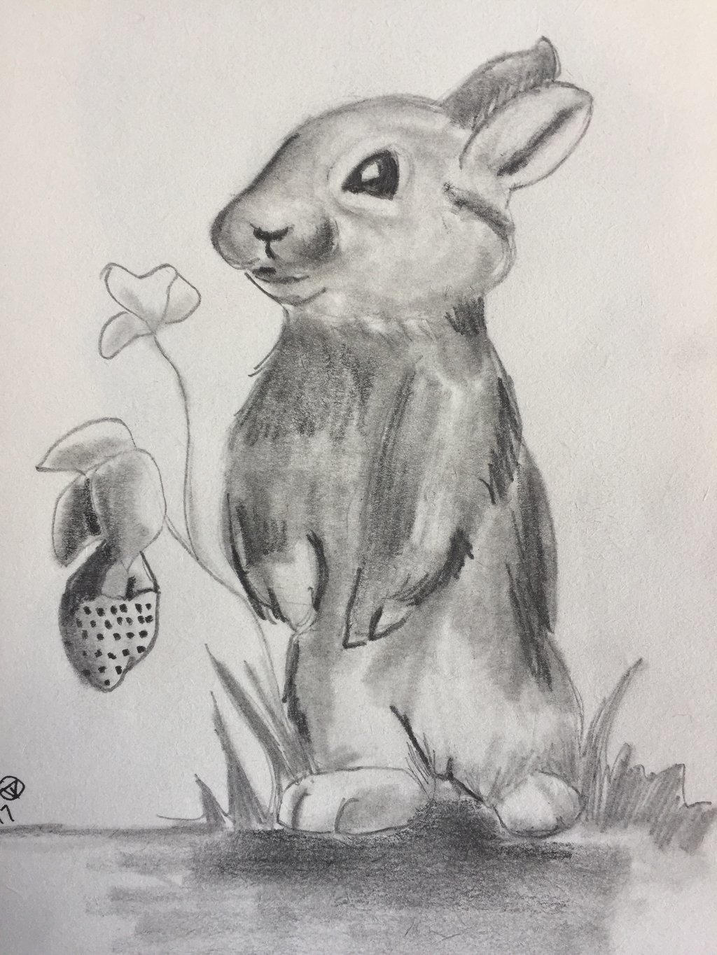 Bunny and a berry  by GentlestGiant