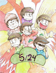 Osomatsu-san Birthday by Starzway