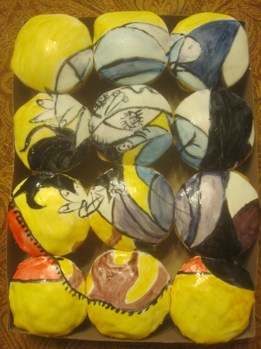 Picasso cupcakes by recycledrapunzel