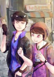 Shopping - Karamatsu and Totty by Kimmynn