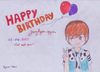 Happy birthday Jonghyun