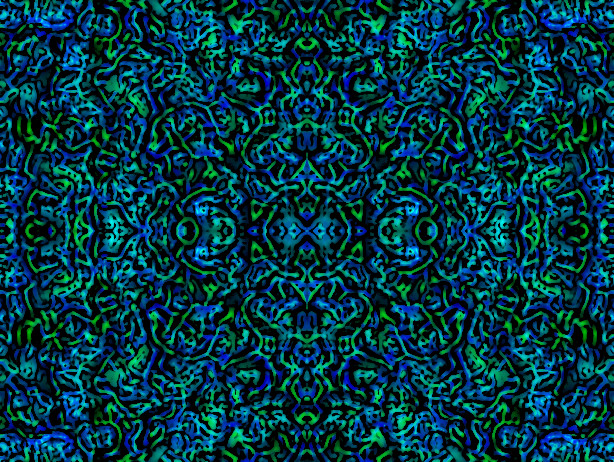 blue and green tribal by geekdude