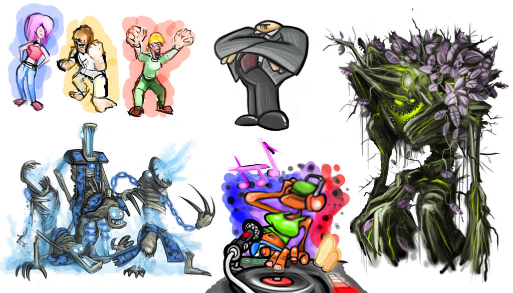 Doodles #3 by Jamdeski