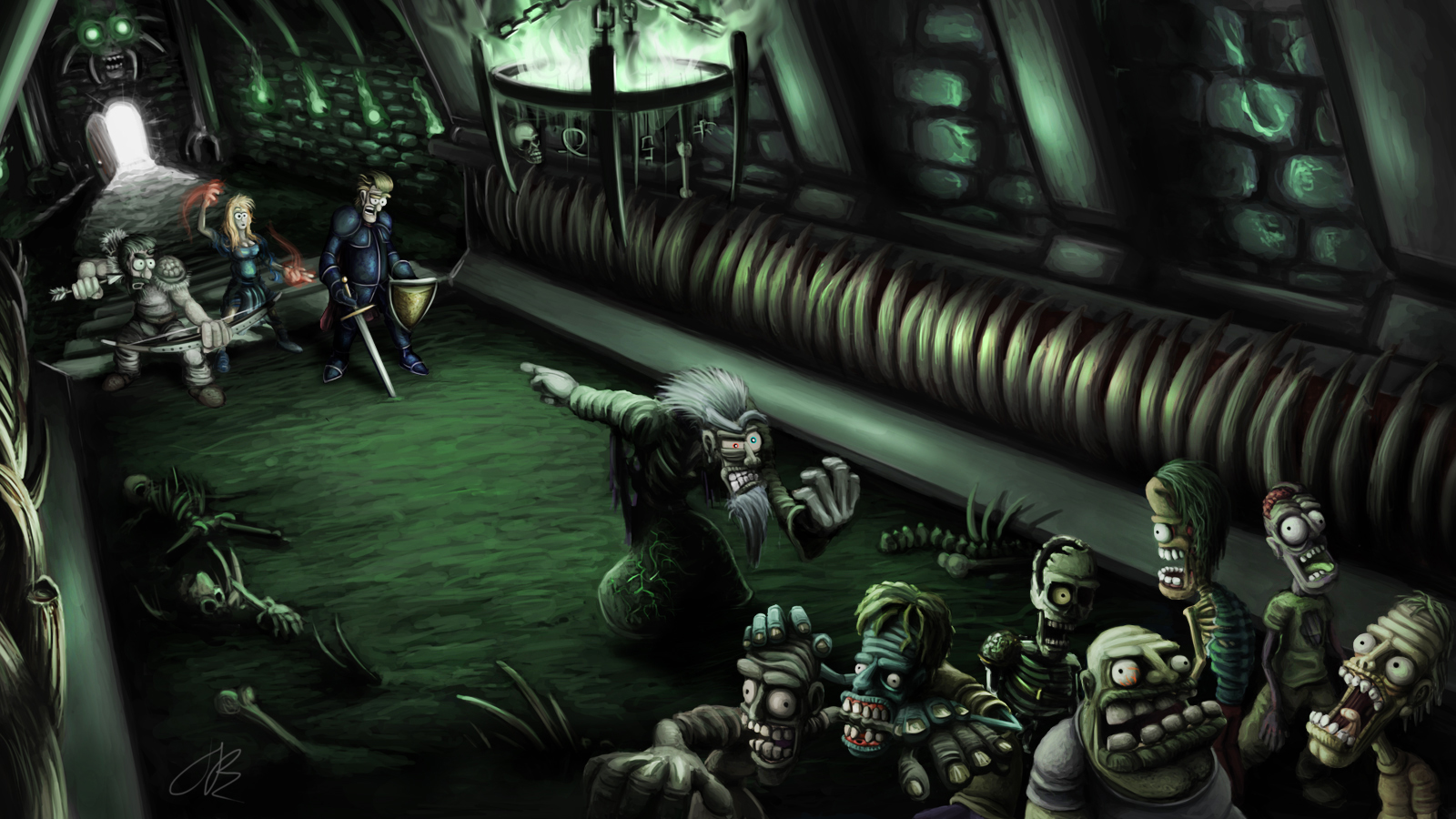 Assault on the Necromancer by Jamdeski