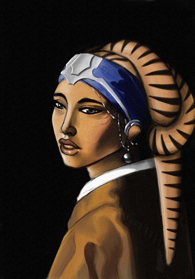 Twi'lek with a Pearl Earring