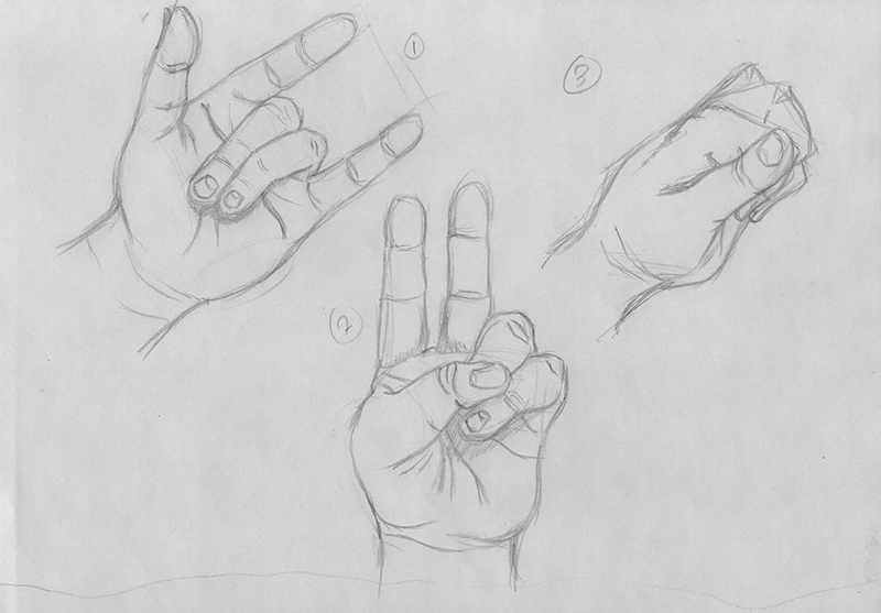 Hand Gesture Drawings: Part One by xTrickx