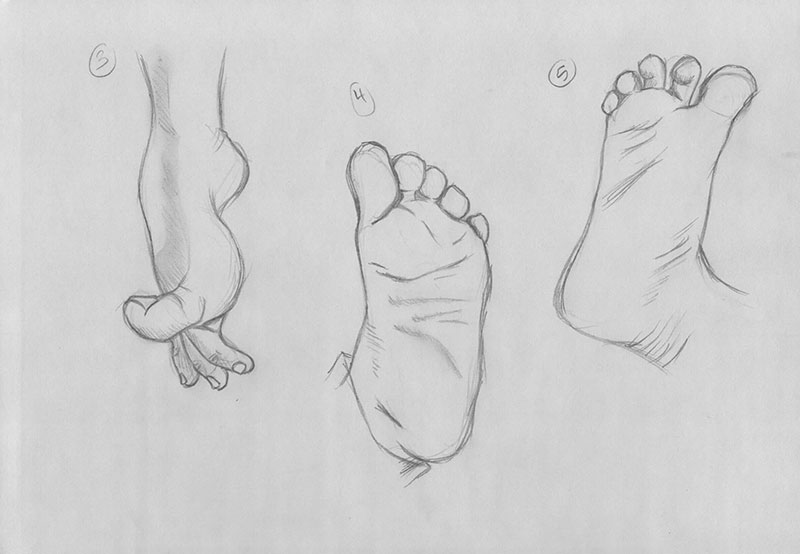 Feet Gesture Drawings: Part One by xTrickx