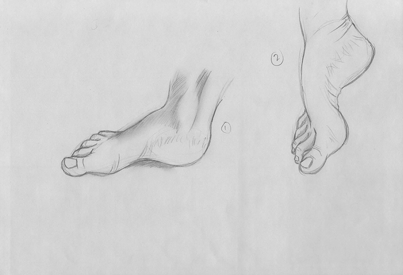 Feet Gesture Drawings: Part Two by xTrickx
