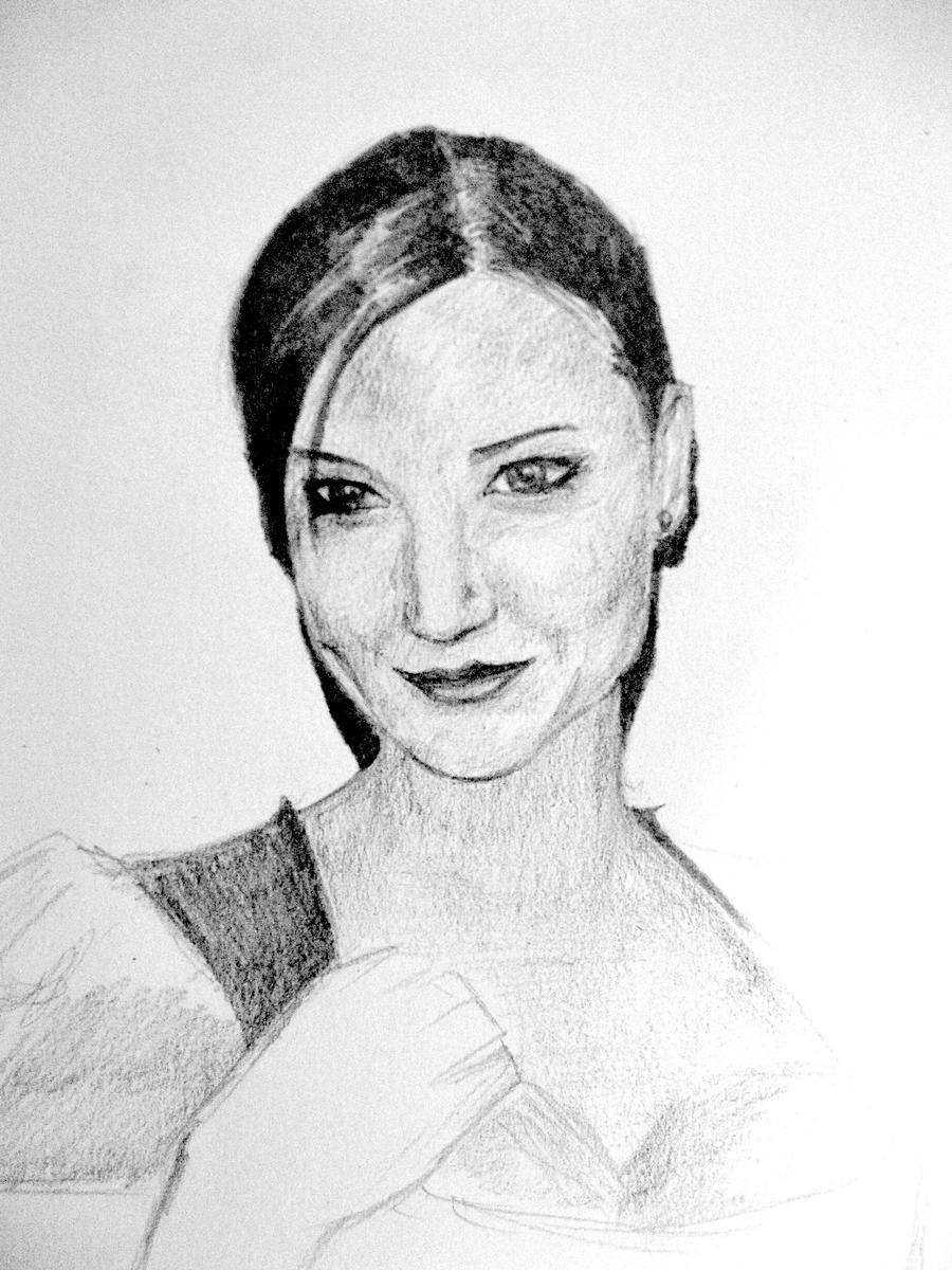 Hand Sketch - Miranda Kerr by Zakmoz