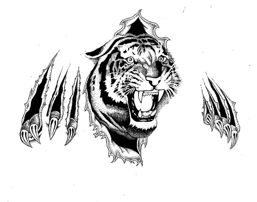 Tattoo flash tiger kf617