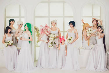 Sailors in white dresses by lina-no-uta