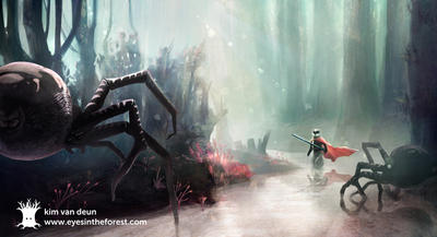 Eerie forest by froebee