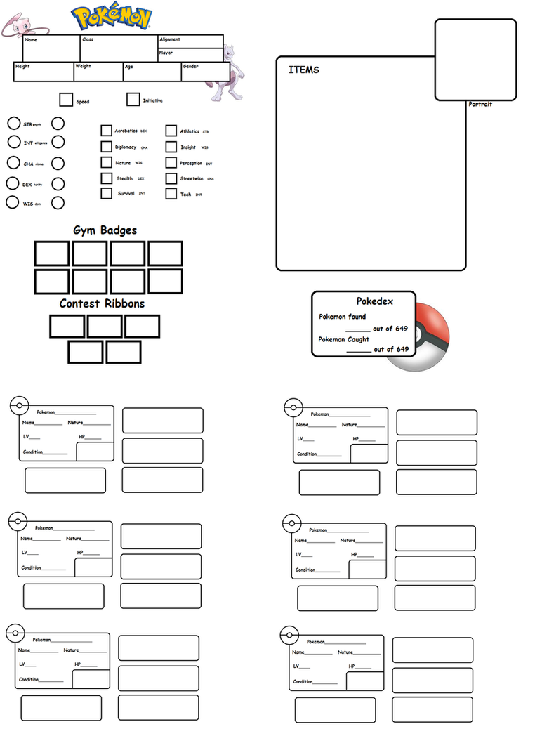 Pokemon tabletop character sheet template by chuchymacu on deviantart pokemon tabletop character sheet template by chuchymacu maxwellsz