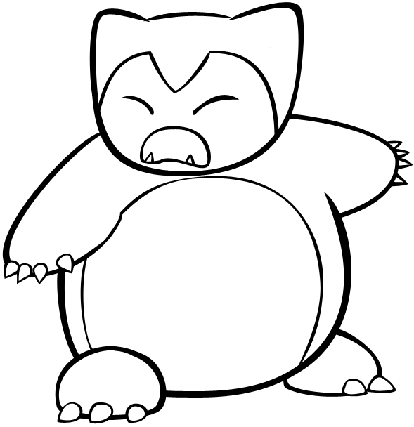 Snorlax Pokemon Coloring Pages Coloring Pages