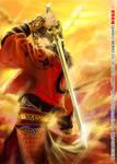 Swordsman in the clouds