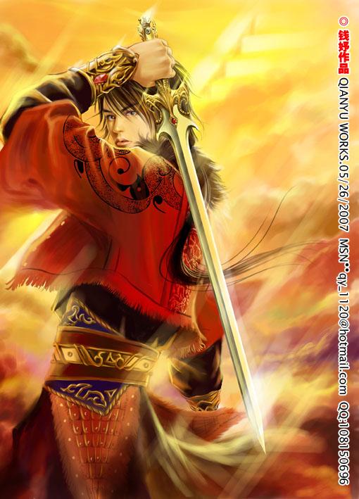 swordsman anime manga illustration