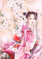 Under Beauty flowers by qianyu