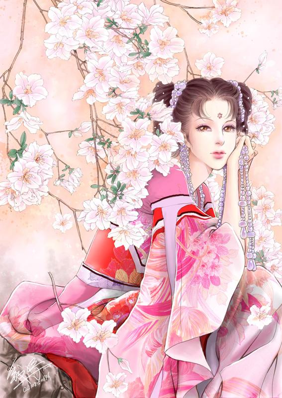 anime beauty flowers