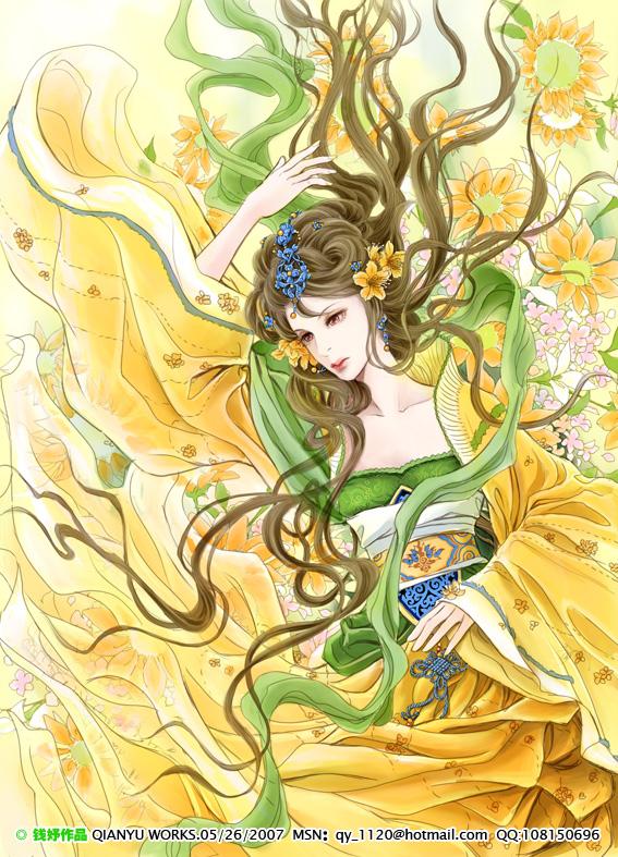 flower anime girl manga