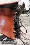 Leather medieval fantasy corset Fenris