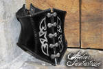 Zinzerena leather and steel corset