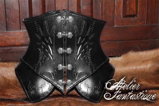 Ashentyr leather underbust corset
