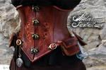 Daelys steampunk leather underbust