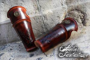 Jormag leather celtic vambraces by AtelierFantastique