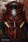 Voodoo leather mask